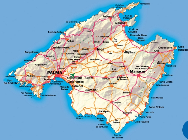 Mapa Carreteras De Mallorca.Semana Santa De Ruta Por Mallorca Prinsotel