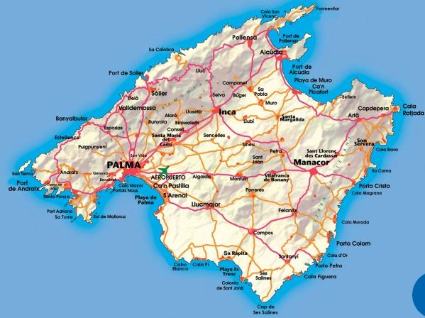 Modelo De La Carroceria Palma De Mallorca Mapa Carreteras